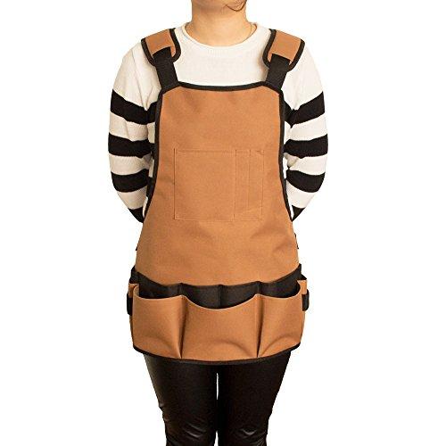Verstellbare Taille-khaki (Outdoor Werkzeugschürzen, 600D Oxford Material Professionelle wasserdichte Verschleiß-resistente haltbare Tools Multi-Funktionale Schürzen, Verstellbare Taille Strap)