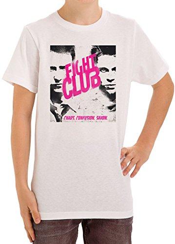 Fight Club Inspired Portrait Edward Norton x Brad Pitt Chaos Confusion Savon bambini unisex etˆ maglietta 5-13 Small