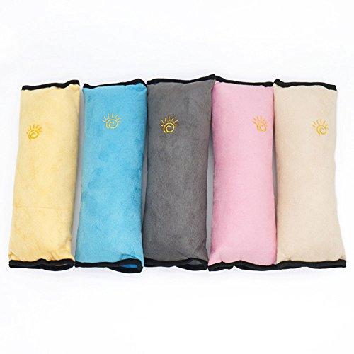 1 paire doux couvertures de ceinture de sécurité enfant pour ceinture de sécurité épaule Pad Housse de siège support de cou pour ceinture de sécurité couvertures pour toutes les voitures Couleur aléatoire