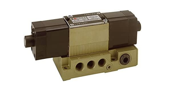 Ross Controls W7076A3331W W70 Series Valve Non-Locking Manual Override 24 VDC 5//2 Single Solenoid Controlled Spool and Sleeve Standard Temp