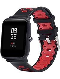 JiaMeng Ligera de Pulsera de Silicona Wristband Pulsera de Repuesto para Amazfit Bip Youth Watch