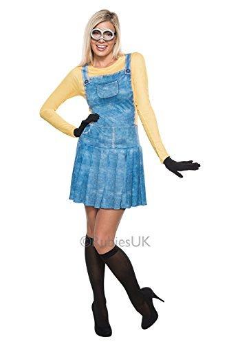 h Minion Ich - Einfach Unverbesserlich NEU Damen Kostüm Kleid Outfit - L - 42-44 (Minion Weibliche Kostüm)