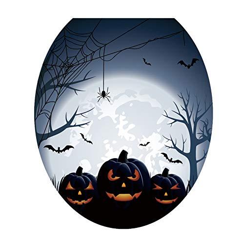 (WC-Deckel-Aufkleber, ROMANTIC BEAR PVC-Halloween-Toiletten-Sitz-Dekoration-Selbstklebender Entfernbarer Sitz-Toiletten-Deckel-Toiletten-Aufkleber)