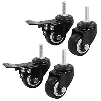 sourcingmap rollen f r einkaufswagen a14071600ux0660 ca 3 8 cm mit bremse und lenkrolle. Black Bedroom Furniture Sets. Home Design Ideas