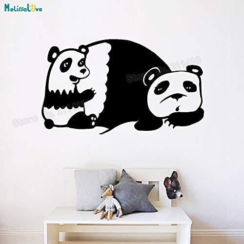 woyaofal Mama Und Baby Panda Wandaufkleber Vinyl Aufkleber Für Kinder Kinderzimmer Selbstklebende Wohnkultur Schöne Kindergarten Geschenk 56x33 cm