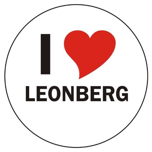 I Love LEONBERG Laptopaufkleber Laptopskin 210x210 mm rund