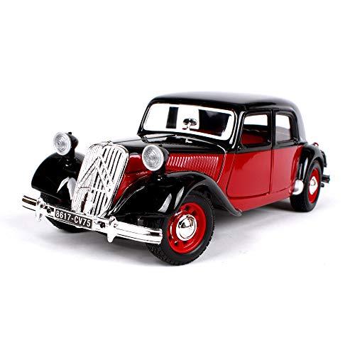 LUCKYCAR 1: 241938 Citroen 15 CV, Simulation eines legierten Automodells, Citroen-Oldtimer,Die Motorhaube sowie die Linke und rechte Tür können geöffnet Werden,Fertiges Modell,Autosammlung