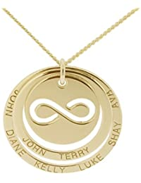 Solid 9ct Yellow Gold Peace CND Pendant With Optional 1mm Wide Trace Chain In Gift Box (available in 16