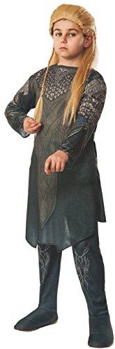 Legolas Kostüm für Kinder aus Der Hobbit Tunika und Hose Oliv - - Hobbit Kostüm Kind