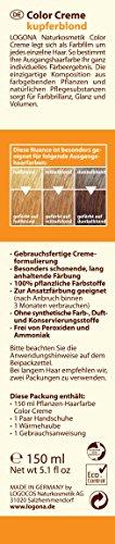 LOGONA Naturkosmetik Coloration Pflanzenhaarfarbe, Color Creme - 200 Kupferblond - Blond, Natürliche & pflegende Haarfärbung (150g) - 4