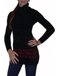 "Warmer Damen Longpullover ""65"" Minikleid Gr. 34-44 feinste Wolle super weich S&LU"