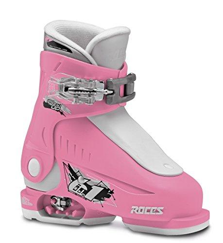 Roces Kinder Idea UP 16.0-18.5 Kinderskischuh-Verstellbar, Deep Pink-White, 25-29 (Salomon Alpin-ski-stiefel)