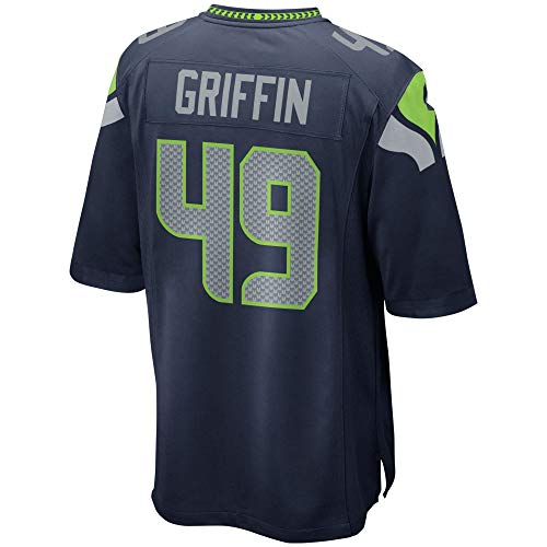 JERWY Men's/Women's/Youth_Shaquem_Griffin_#49_Navy_Sportswears_Football_Game_Jersey (Namens-tags Game-show)