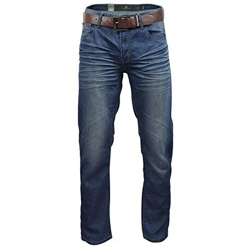 CrossHatch Herren Jeans Mid Wash