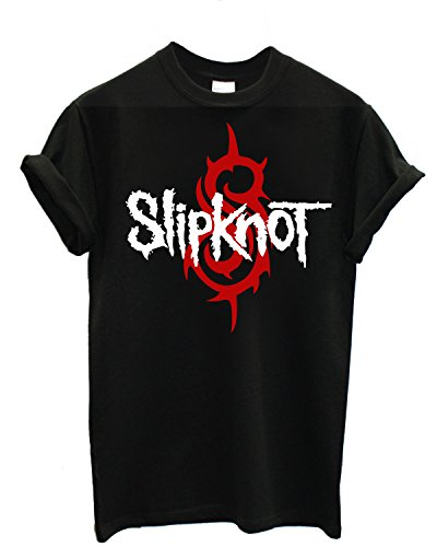 T-shirt Uomo Slipknot - S logo Maglietta 100% cotone LaMAGLIERIA,M, Nero