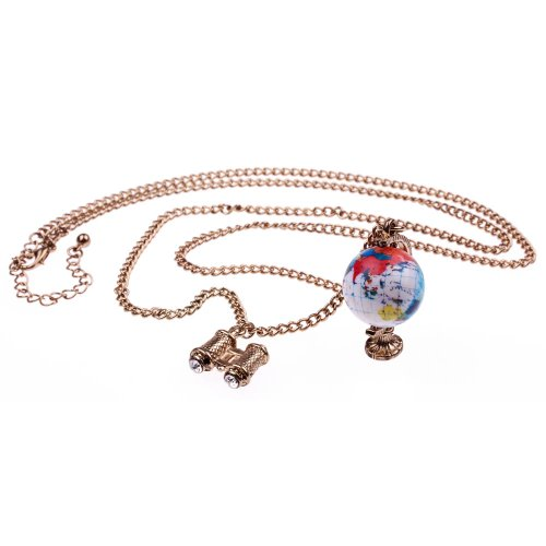globe-binoculars-with-chain-necklace-length-approx-70-cm-rotatable-travel-pendant-globe