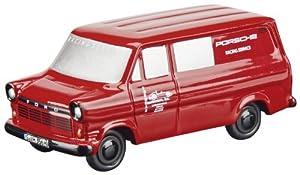 Dickie de Dickie-Schuco 450585400-Piccolo Ford Transit Porsche, buzón Carro, Color Rojo