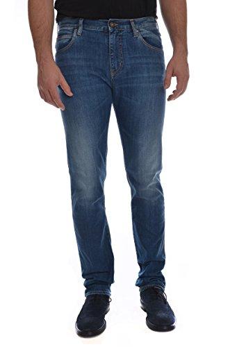 ARMANI JEANS J45 lavaggio medio, jeans cotone 5 tasche uomo, vestibilità slim