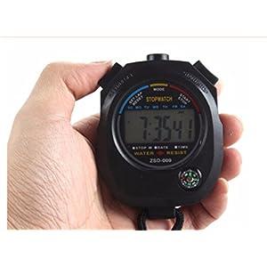Generic Digital LCD Timer Professioneller Sport Chronograph Zähler Stoppuhr mit Alarm für Leichtathletik, Schwimmen, Radfahren Zeit Checks