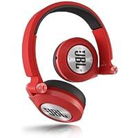 JBL E40 BT - Auriculares supraaurales inalámbricos para dispositivos iOS y Android (estéreo, almohadillados recargables), color rojo