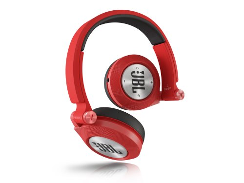 E40 BT Stereo Bluetooth, Imbottite, Morbide, Ricaricabili, Wireless, Compatibili con Dispositivi Apple iOS e Android, Rosso
