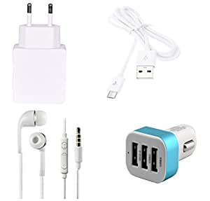 High Quality 1.0 Amp USB Charger, USB Cable, 3.5mm Jack Handsfree, 3 Jack USB...