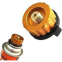 Adaptador de la estufa de gas para acampar Conector de la estufa ,Apagado automático al aire libre Gas de acampar,Cartucho del cilindro Tipo dividido Conector de la estufa convertidor para acampar