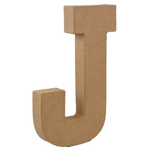 country-love-crafts-825-inch-205cm-3d-letter-j-papier-mache