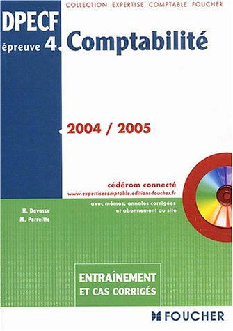 Comptabilit EP4, DPECF, 2004-2005 : Entranement