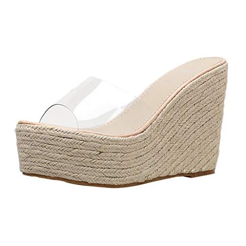 Sandalias tacón Alto Mujer Zapatos Plataforma Cuerdas