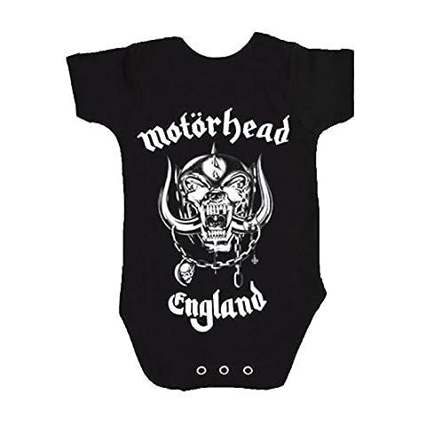 70s Groupe - Motorhead England Babies nouveau Noir Grenouillères (Ages