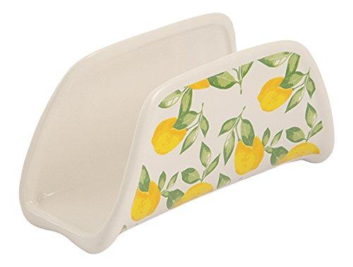 Weiß Keramik Serviettenhalter (Galileo Casa Sorrento Serviettenhalter, Keramik, Weiß/Gelb)