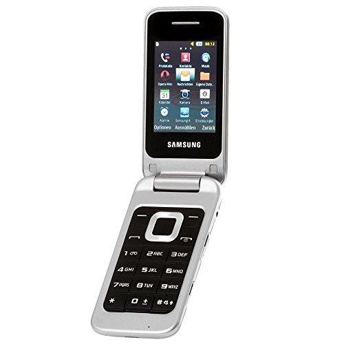 Samsung C3520i Handy, metallic-silver EU ohne Simlock, ohne Branding, ohne Vertrag