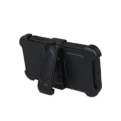 """xhorizon FM8 Eingebaut Schützender Stoßdämpfer Heavy Duty Schutz Schockreduzierung/Stoßstang Case für Apple iPhone 7 [4.7""""] (Blau) Schwarz"""