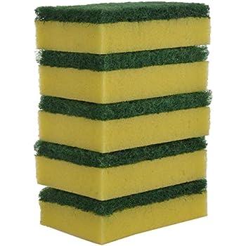 Brite Guard Polyester Multipurpose Scrub Sponge (Green, 5-Piece)