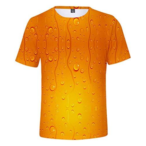 Allegorly Basic T-Shirt, Herren Mode 3D Lustige Oktoberfest Shirt Druck Kurzarm Top Klassisches Kurzarmshirt Beiläufige blusen Sport Fitness Rundhals Tops Streetwear Casual Männer Oberteile Sommer -