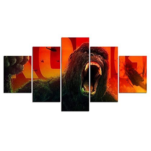 Yyjyxd ArtSailing 5 Stück leinwand malereiKing Kong Movie bilderwandkunstDekoration Für Wohnzimmer HD Print poster-4x6/8/10inch,Without frame (8 Movie Full Halloween)