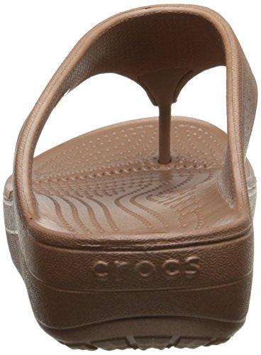 crocs Damen Wn-Platform Flip Offene Sandalen mit Keilabsatz Bronze