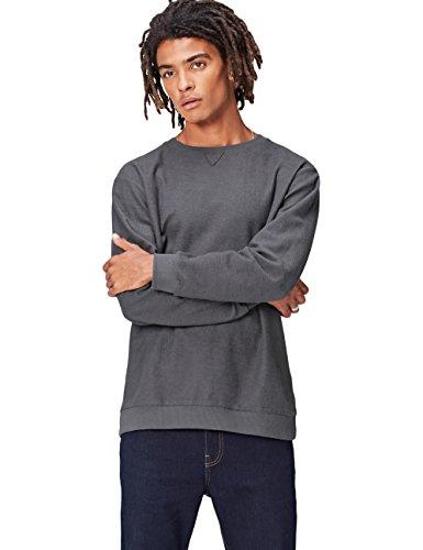 FIND Sweatshirt Herren meliert mit rundem Ausschnitt Grau (Grey Marl 002)