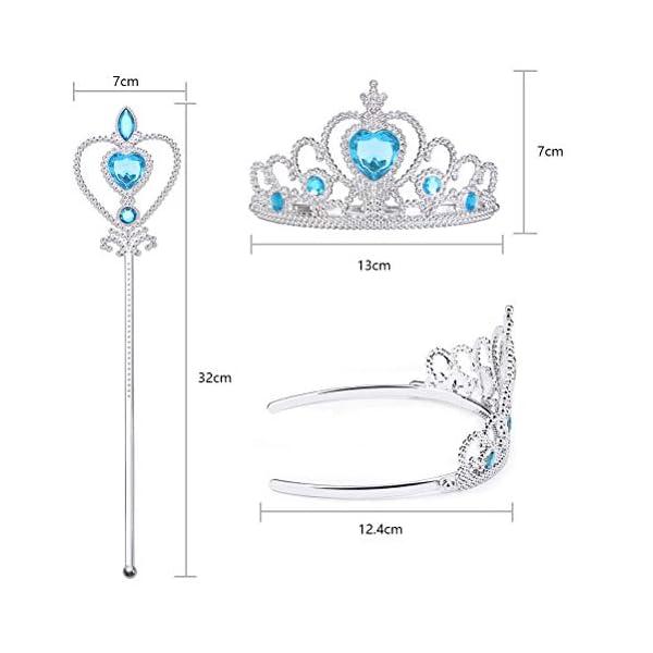 Vicloon 2 PCS Accessori per Vestire Principessa con Diadema,Bacchetta Magica per Ragazze di 3-10 Anni … 4 spesavip