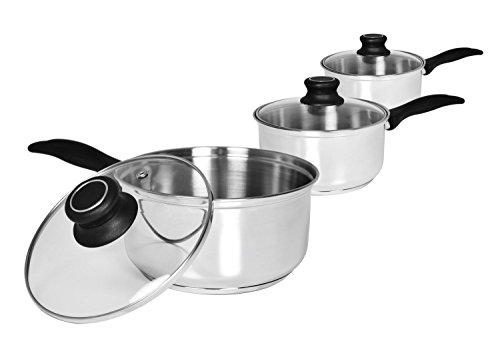 Zodiac 3-BH Cook and Eat Stainless Steel Pan Set 14 cm/16 cm/18 cm (Pack of 3)