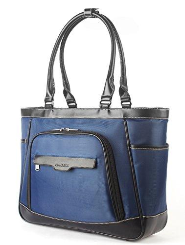 Coolbell 'Bolso de mujer compartimento extraíble para portátiles de 15,6. Bolsa para el tiempo libre y transporte con bolsillos funcionales azul turquesa 17.3 Pollici