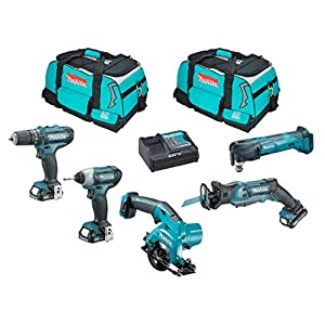 MAKITA Kit MMT5D3 (JR103 + TM30 + HS301 + TD110 + HP331 + 3 x 2,0 Ah + DC10SA + 2 x Werkzeugtasche)