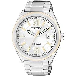 Citizen Herren-Armbanduhr XL Analog Quarz Edelstahl AW1174-50A