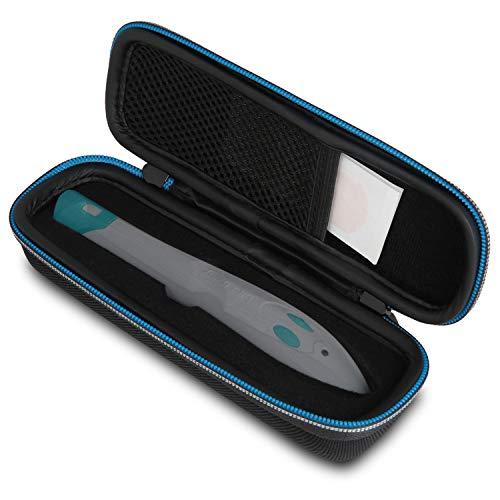 Wicked Chili Tasche für Bite Away - Hard Case für elektronischen Stichheiler gegen Juckreiz - Premium Schutzhülle, Etui für Mückenstichheiler (mit Zubehörfach für Desinfektionstücher) schwarz -