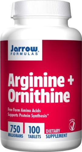 Jarrow Formulas, Arginina + Ornithine - x100 750mg Easy-Solv Comprimés