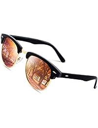 0cb0a4dd46 CGID Gafas de sol polarizadas retro medio marco clásico para Hombre y Mujer  MJ56