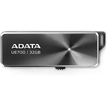 ADATA Elite UE700 USB3.0 Flash Drive 32GB, Black (AUE700-32G-CBK)