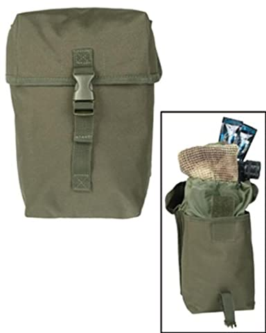 Tactical Patrol Large Utility Pouch Multi Purpose Bag MOLLE System Airsoft Olive