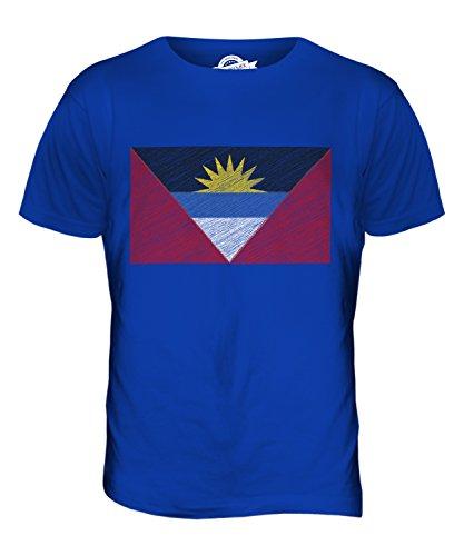 CandyMix Anguilla Kritzelte Flagge Herren T Shirt Königsblau